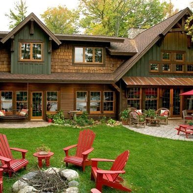 Exterior paint colors for cabin google search my - Country style exterior house colors ...