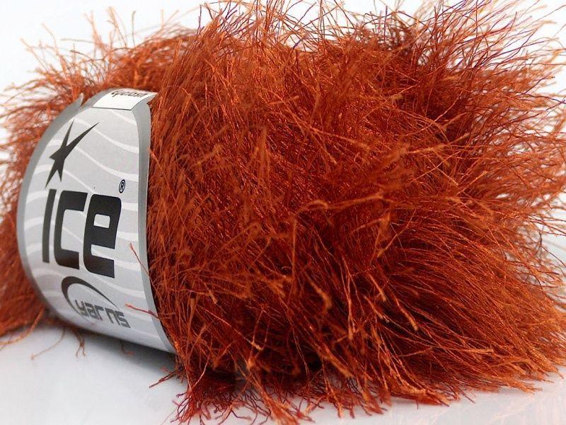38Yd Ecru Extra Long Eyelash Yarn Ice Luxurious Ivory Fun Fur 42069 50Gram