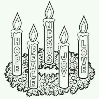 Hope, Peace, Jesus, Joy, Love | Christmas coloring pages ...