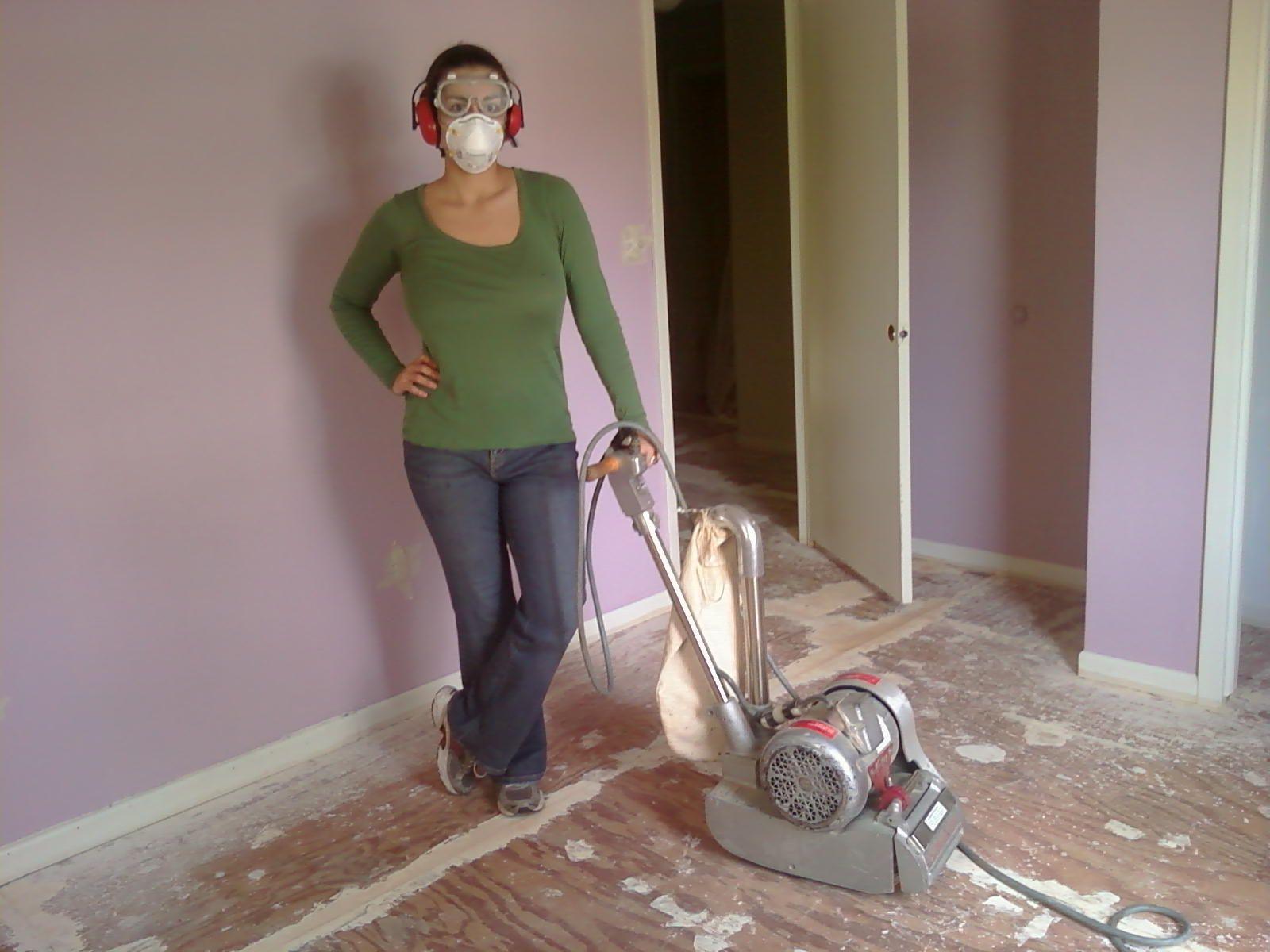 How To Sand A Subfloor Using A Drum Sander Old Home Remodel Flooring Sanders