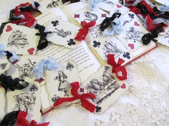 Alice in Wonderland Playing Card Parchment Party by auntiesjammies, $33.00