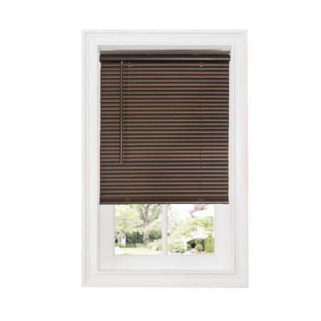 Achim Cordless Gii Deluxe Sundown 1 Inch Room Darkening Mini Window Blind 39x64 Mahogany Brown Room Darkening Blinds For Windows Vinyl Blinds