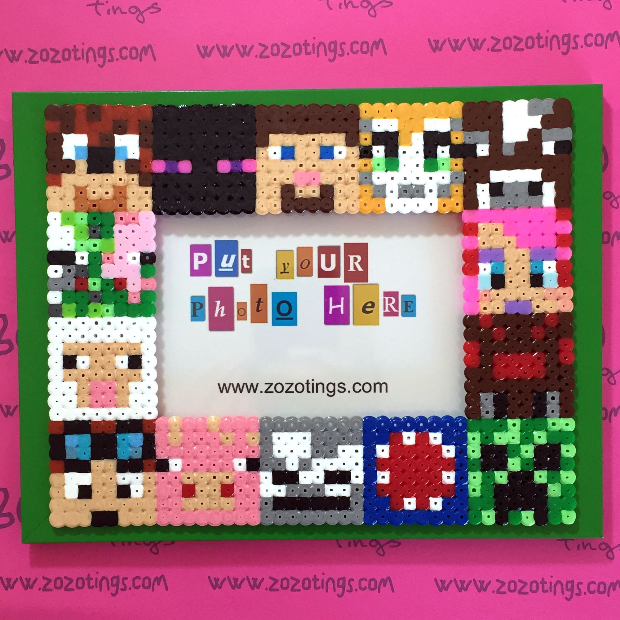 Minecraft All-stars Pixel Photo Frame   Bügelperlen und Ideen