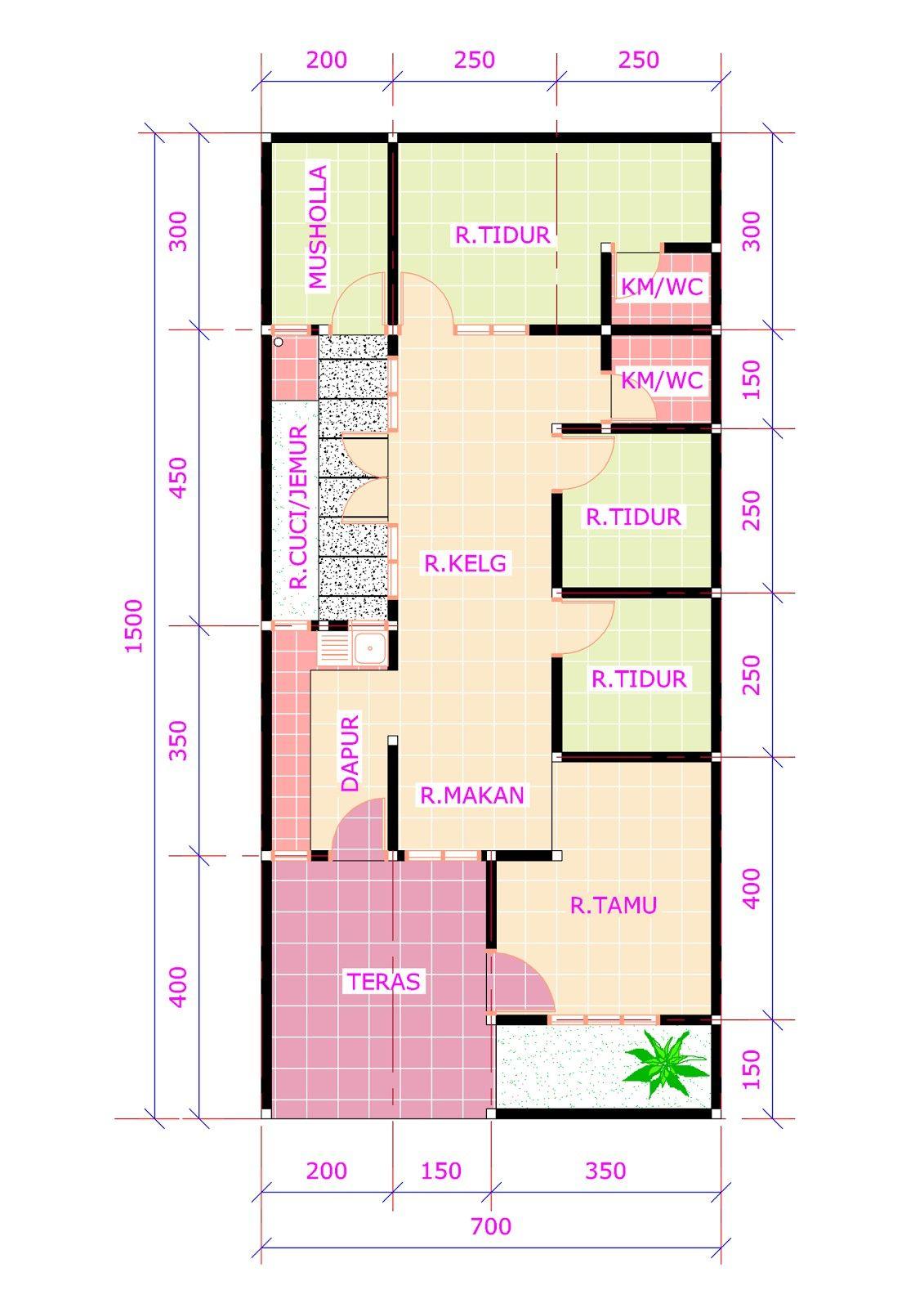 44+ Foto Desain Rumah 3 Kamar Ukuran 6X12 Terbaru Unduh