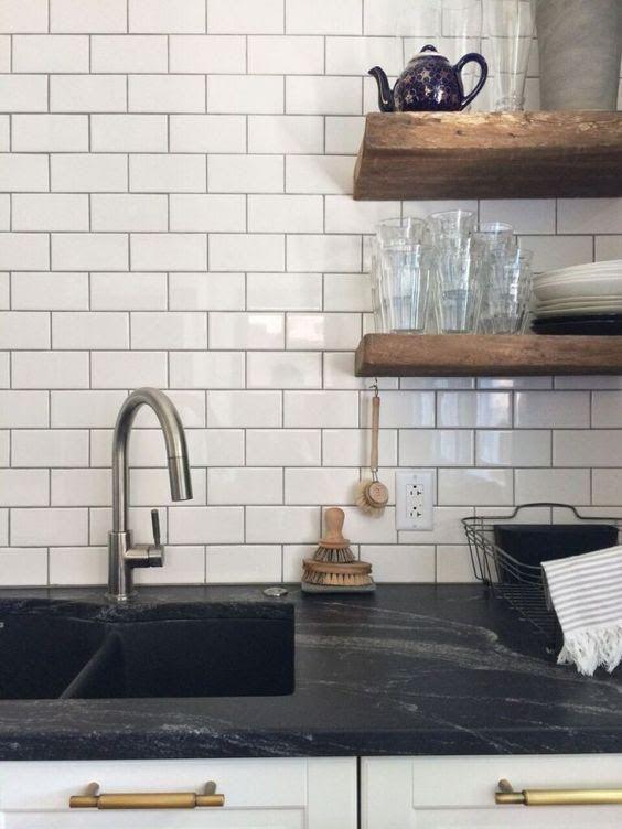 Superbe Honed Granite Countertop Mimics Soapstone #Granite