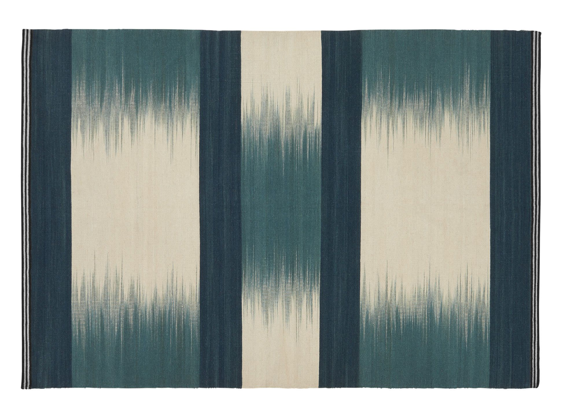 Patola ombre wool large flatweave rug 160 x 230cm teal blue from