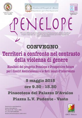 Territori a confronto nel contrasto della violenza di genere: il 5 maggio a Vasto