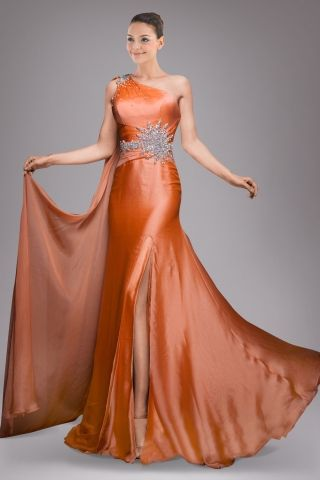 coquettish-oneshoulder-orange-satin-sheath-evening-gown-in-beaded ...