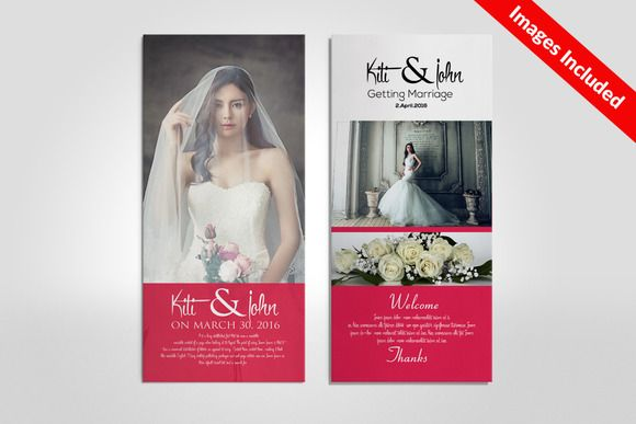 Wedding Rack Card Templates Creativework  Templates