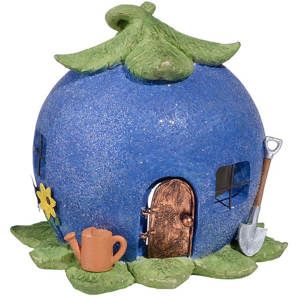 Grasslands Road Blueberry Forest Toad House Garden Décor ($11) ❤ liked on Polyvore featuring home, outdoors, outdoor decor, outdoor garden decor, outdoor patio decor, grasslands road, metal garden decor and garden decor