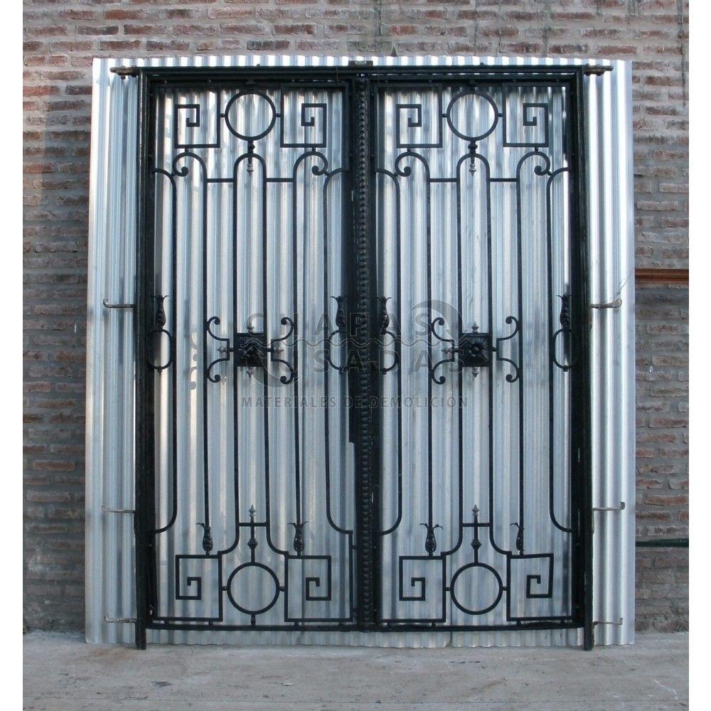 Puerta antigua de hierro forjado original portones for Puerta casa antigua