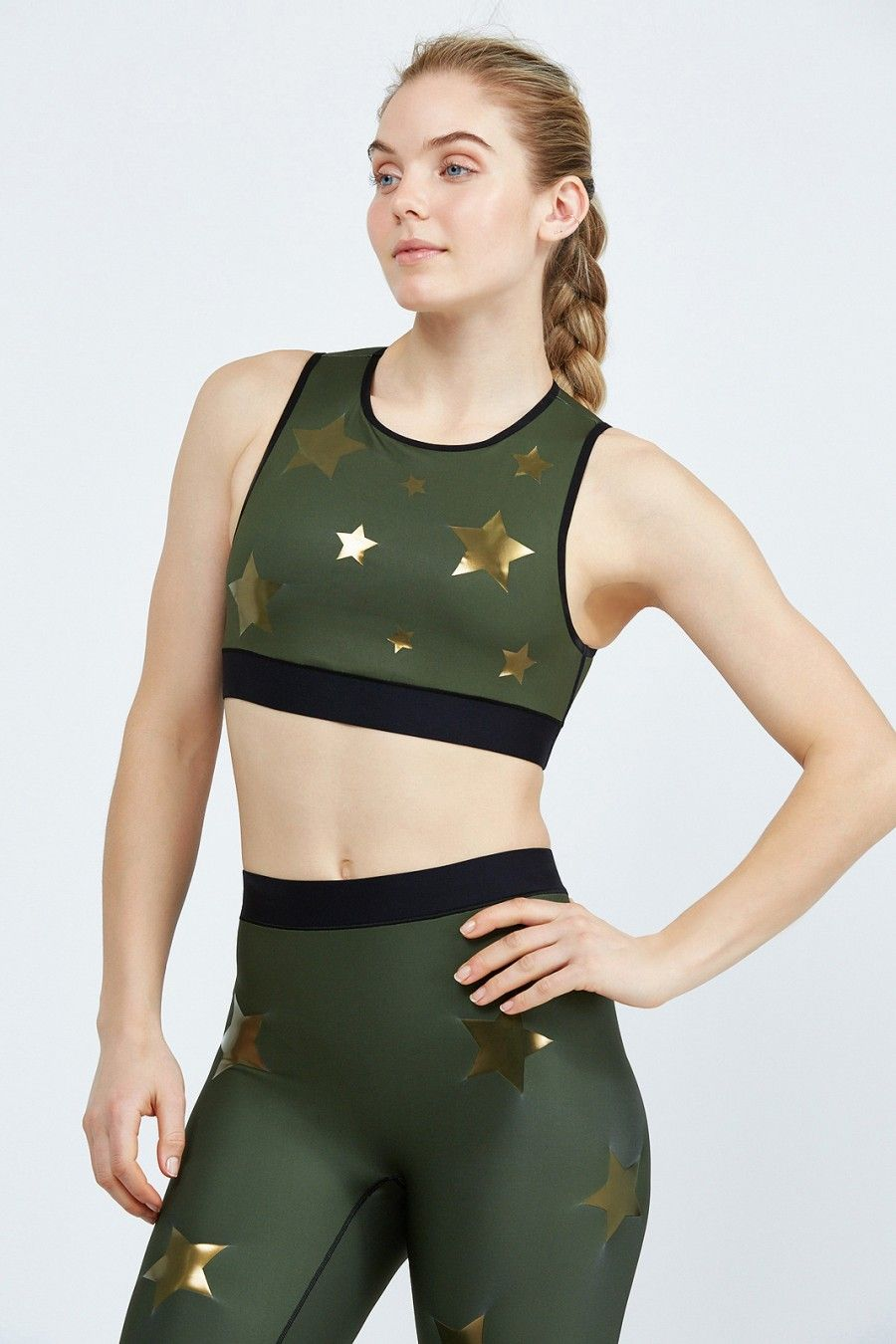 Ultracor Level Silk Knockout Crop Top Small Stars View