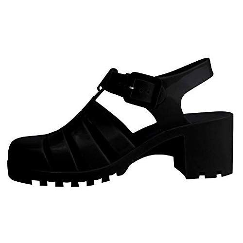 f1122a9cc99 Sale Unique Melissa Black Jelly Closed Toe Strappy Buckle Wedge Rubber  Platform Heel Christmas Party Dress Holiday Fashion Ver Zapatos de Mujer  Platform ...