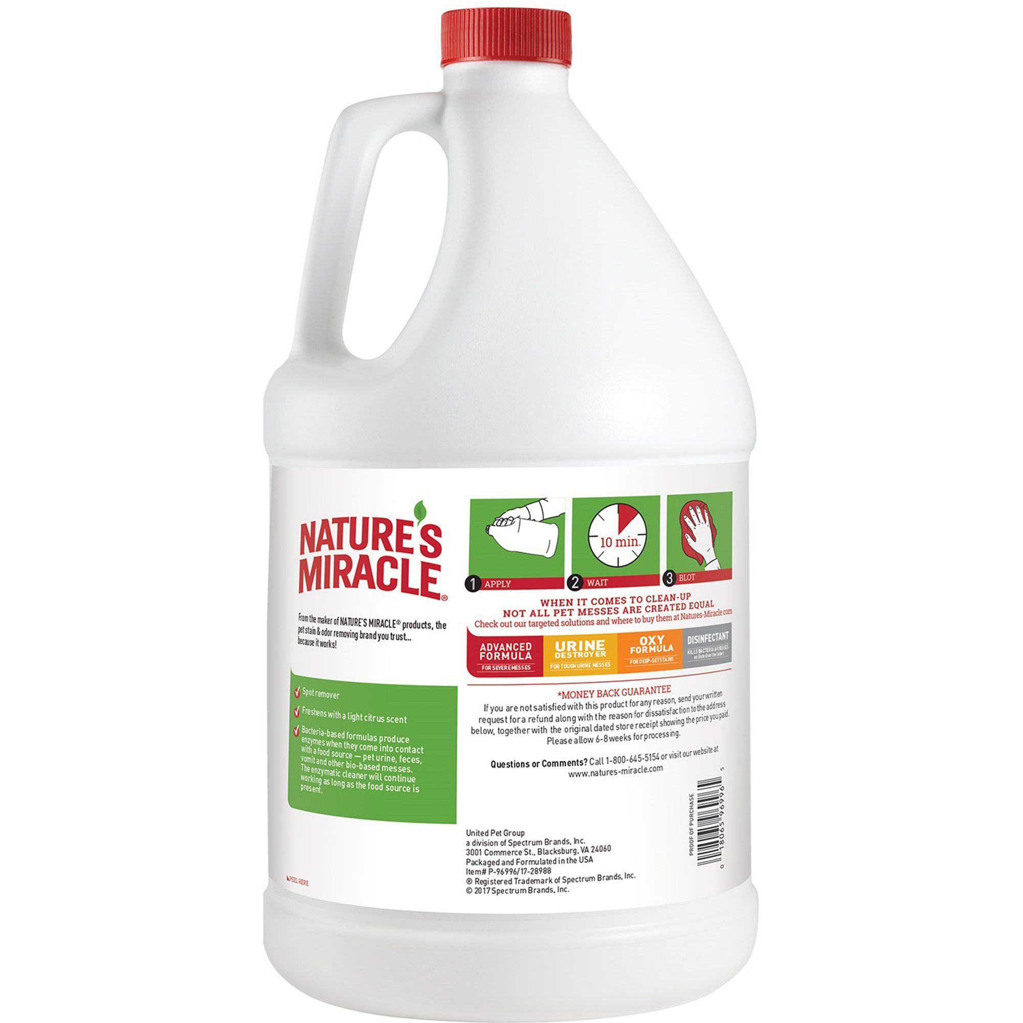 Nature's Miracle New Formula Just for Cats Stain & Odor