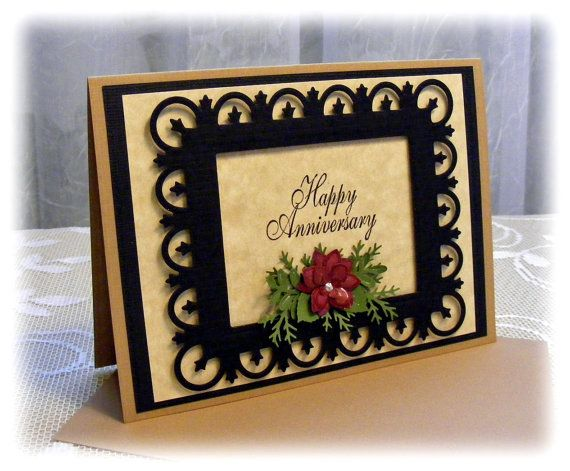Elegant handmade anniversary card with 3d flowers ready to ship elegant handmade anniversary card with 3d by pineapplesoupdesigns 400 m4hsunfo