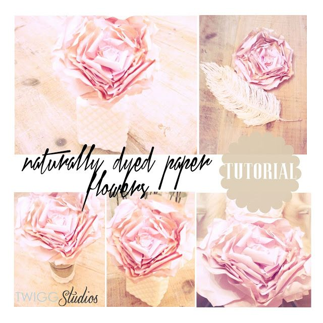 naturally dyed paper flowers and pattern