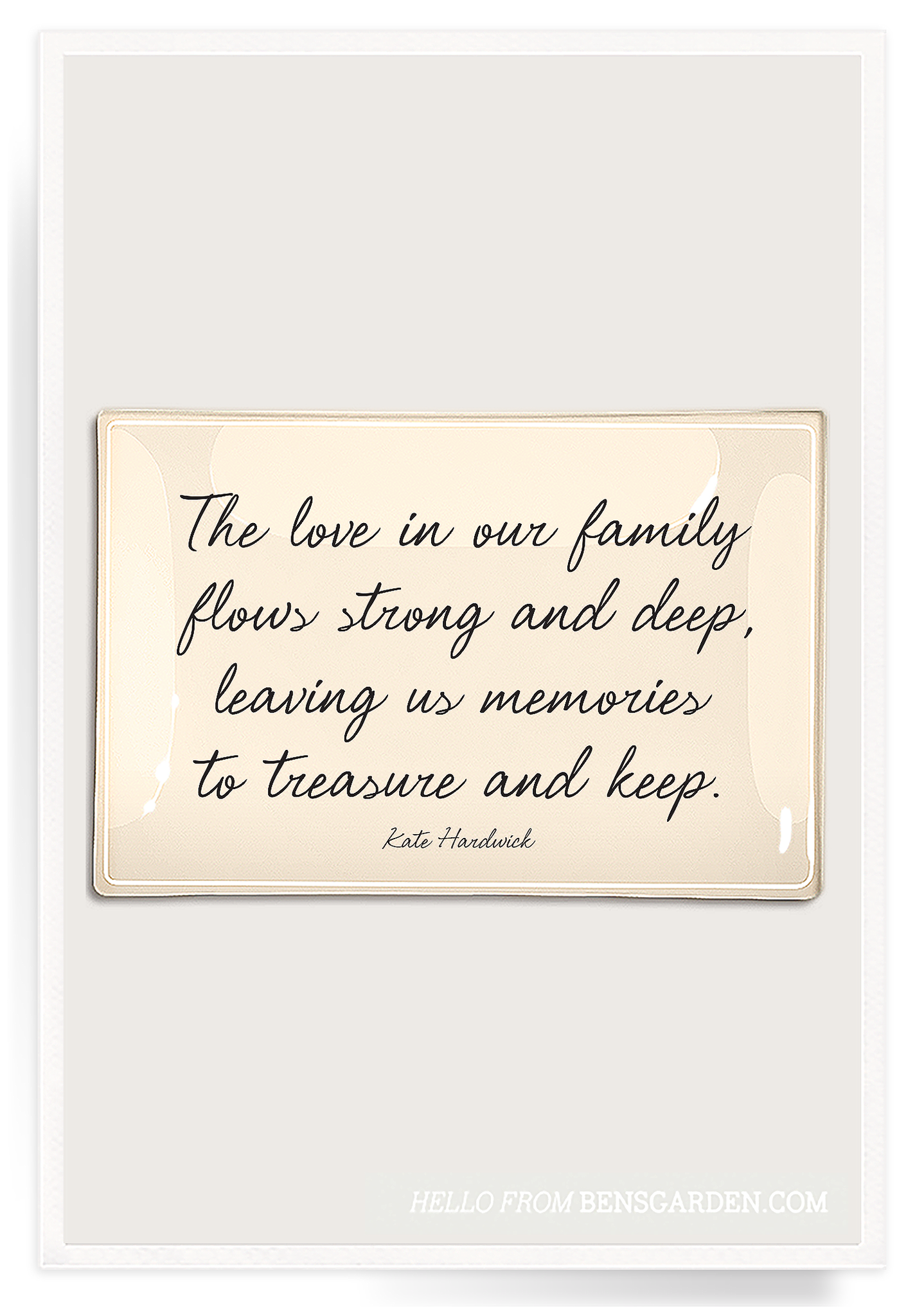 The Love In Our Family Decoupage Glass Tray Tradition