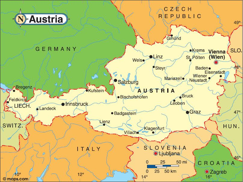 Map Of Austria Video Http Www Youtube Com Watch V