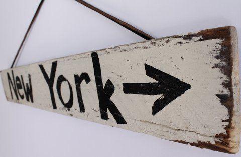 New York Beach Sign