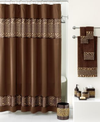 Avanti Bath Accessories Cheshire Shower Curtain Curtains Brown