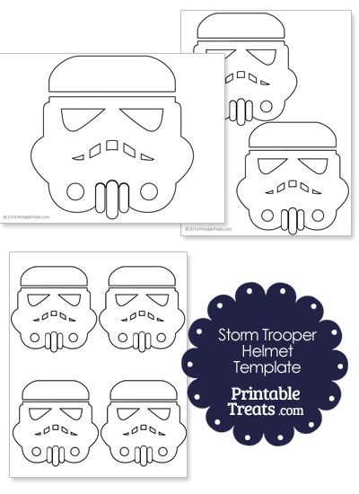 Star Wars Stormtrooper Helmet Template From