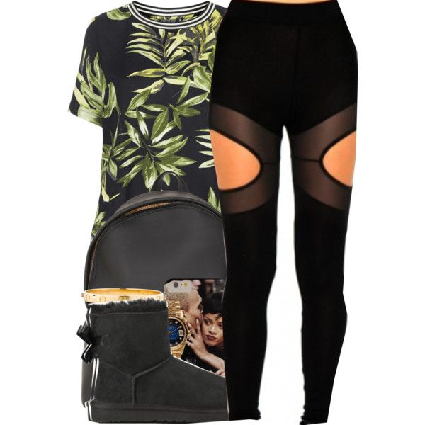 He said he love me, but I can see it in his eyes it wasn't sincere. by mindlesspolyvore on Polyvore featuring Topshop, Missguided, UGG Australia, Givenchy, Cartier and Rolex
