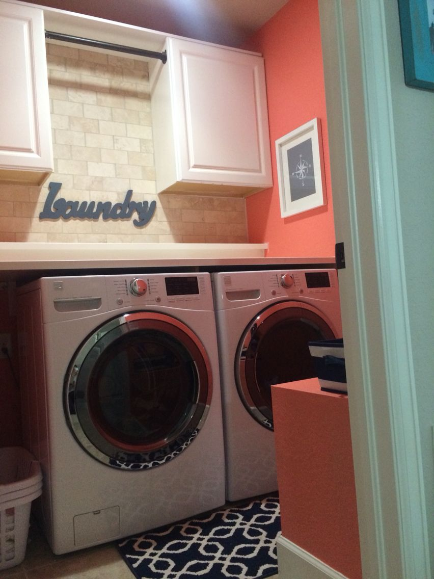 Coral Laundry Room Laundry Room Paint Laundry Room Colors