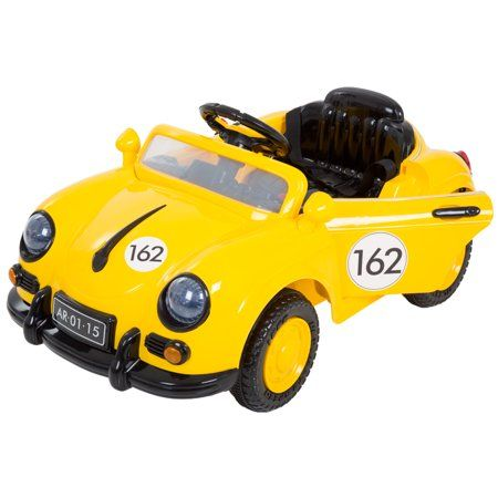 Ride On Toy Car, Battery Powered Classic Sports Car With Remote Control and Sound by Hey! Play! – Toys for Boys and Girls, 2 – 5 Year Olds (Cream) – Walmart.com