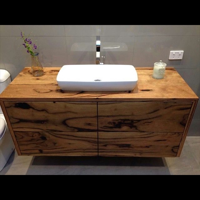 Custom Made Marri Vanity Bathroom.