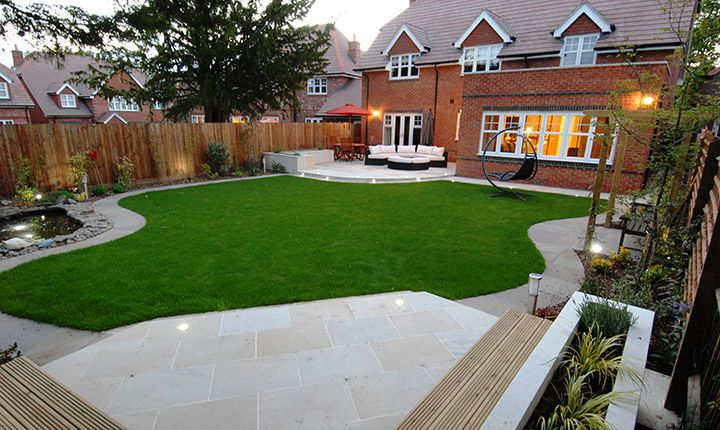 Modern garden designs uk google search gardening for Contemporary backyard landscaping ideas