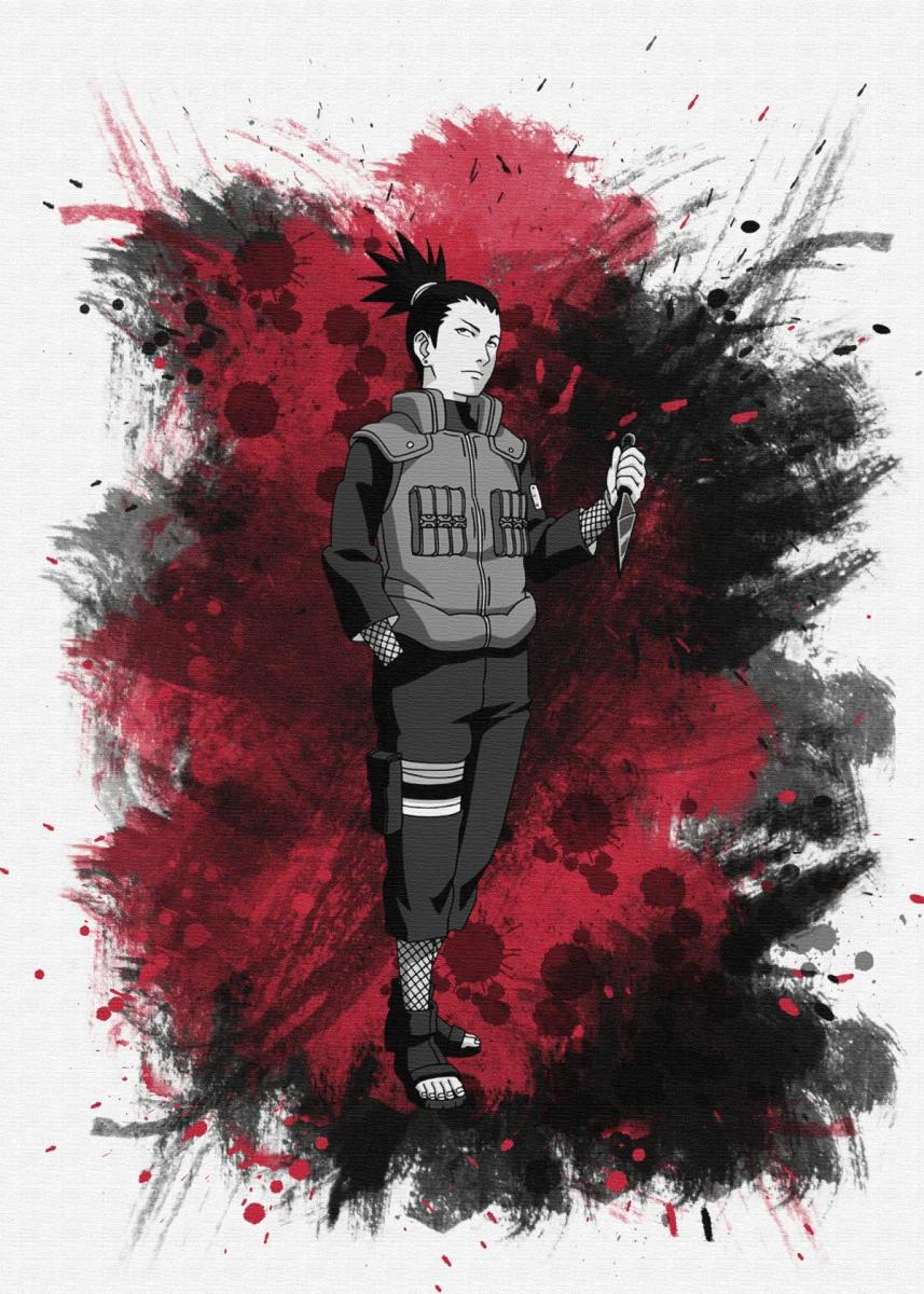 Nara Shikamaru Metal Poster Roybrock Displate Shikamaru Naruto Wallpaper Naruto Art