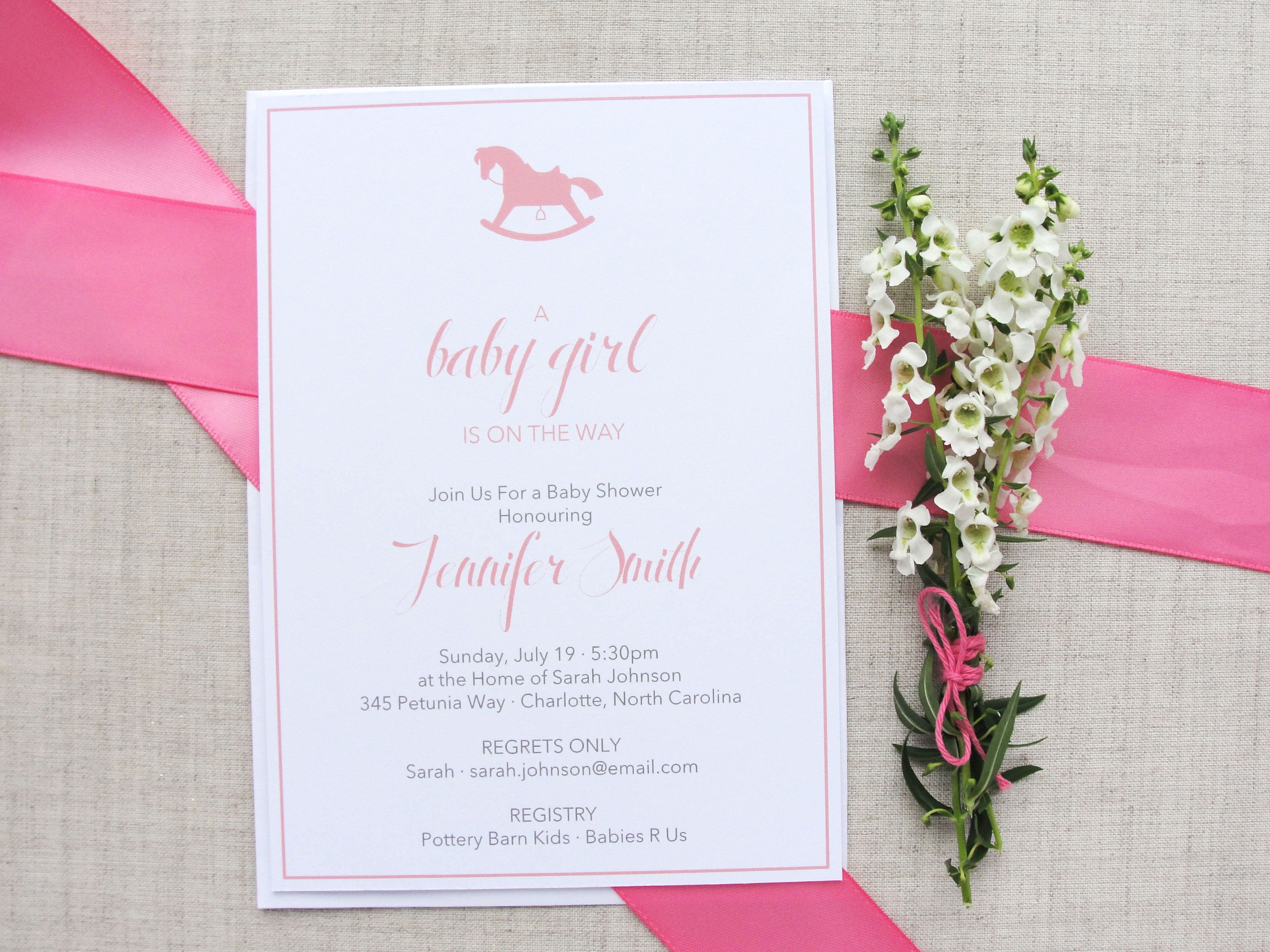Rocking Horse Baby Shower Invitations | Meredith Collie ...