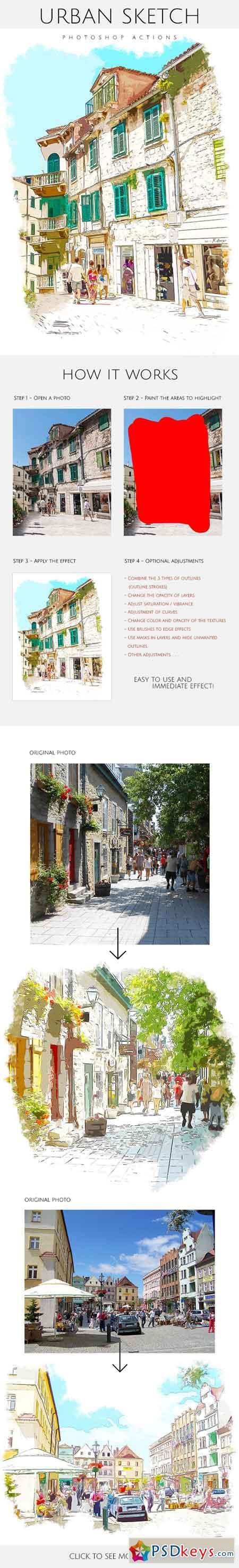 Urban Sketch - Photoshop Actions 17968440   PSDkeys   Sketch