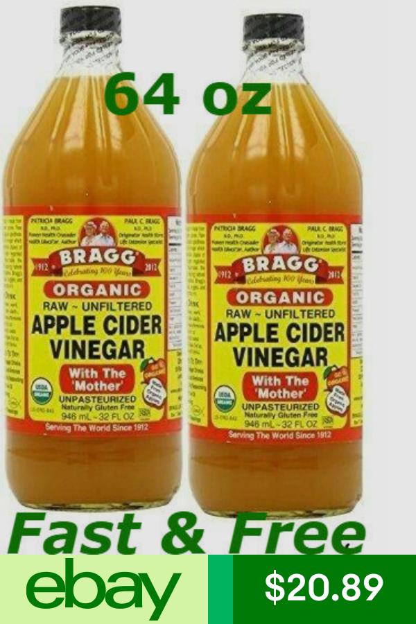 Shop 100 Apple Cider Vinegar 041755211808 16 Ounce Glass Bottles 4 Included Truegether Apple Cider Vinegar Cider Apple Cider