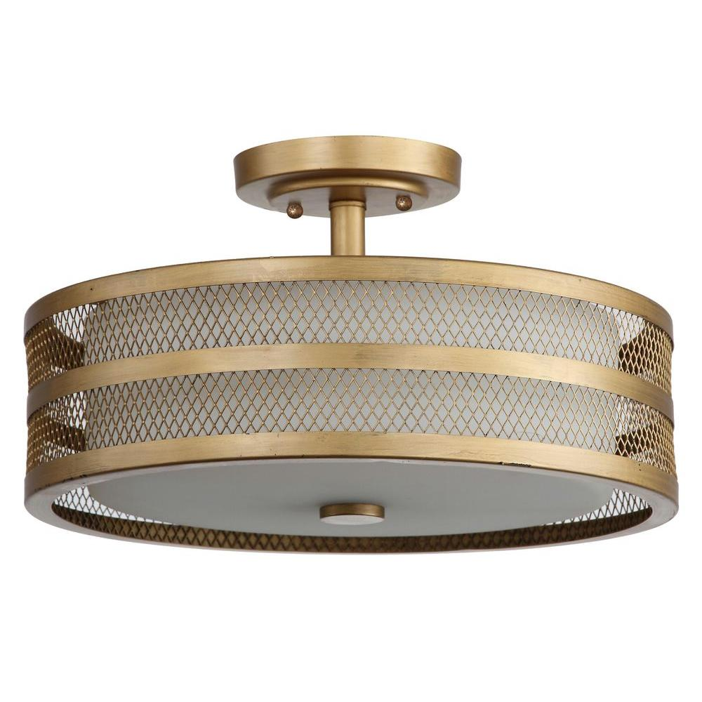 Safavieh Great Veil 3 Light Antique Gold Semi Flush Mount Light Lit4230a With Images Gold Ceiling Light Ceiling Lights Semi Flush Mount Lighting