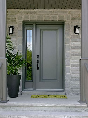 Exterior Steel Door With Sealed Grilles And Transom Jw Flickr Photo Sharing