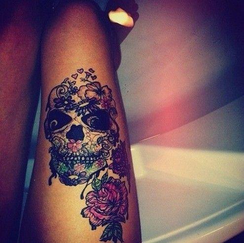 50 Cool Skull Tattoos Designs Tattoo Ideas Girly Skull Tattoos