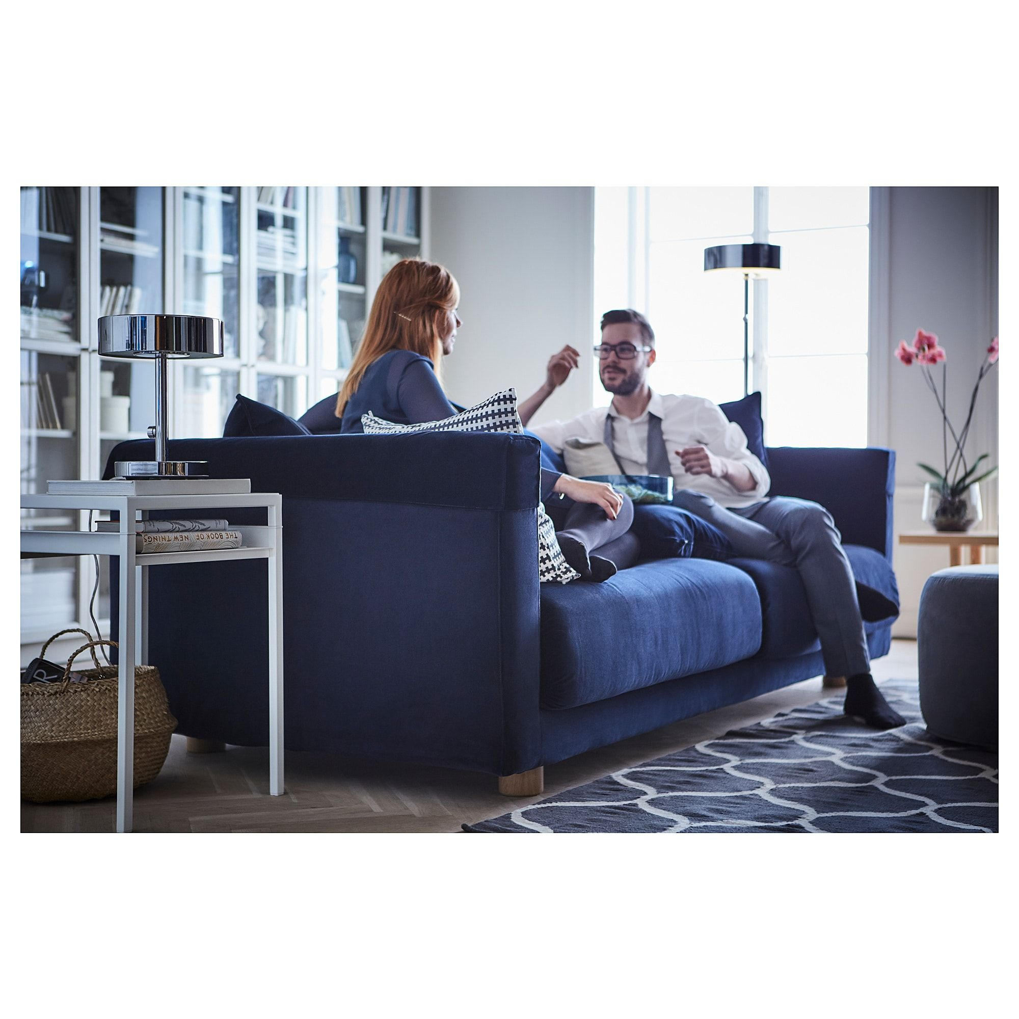 Divano Velluto Blu Ikea stockholm 2017 sofa - sandbacka dark blue (with images