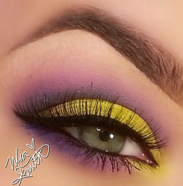 Yellow Purple Make Up Pinterest