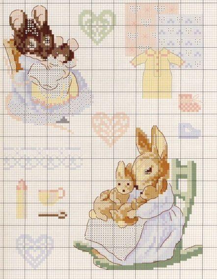 point de croix - beatrix potter | Cross stitch animals, Cross stitch embroidery, Cross stitch