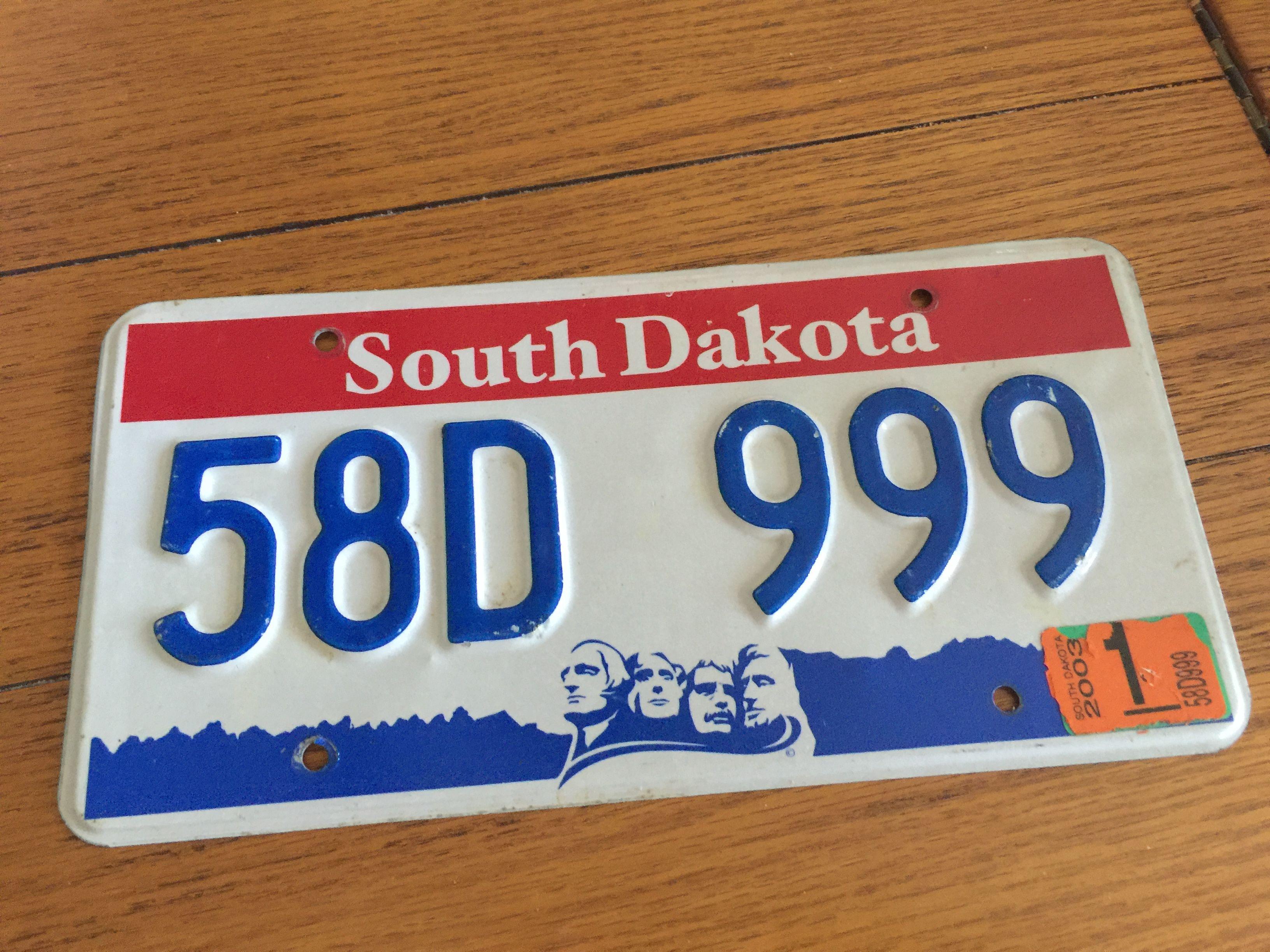 South Dakota Red White Blue Stanley County South Dakota Dakota License Plate