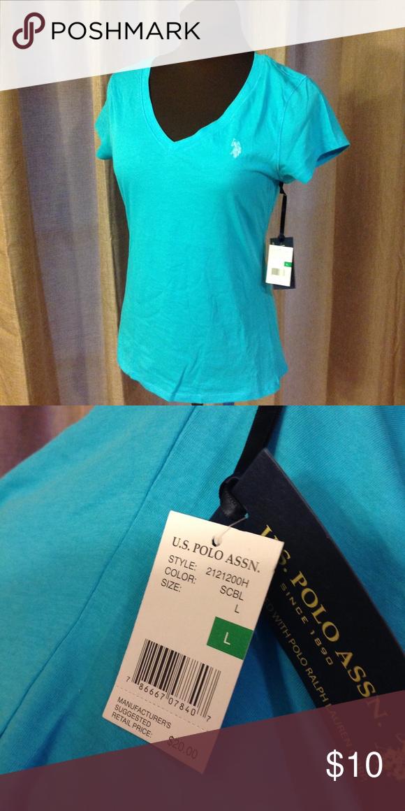 49a5972d9 V-Neck Polo T-Shirt. NWT Soft and comfy V-neck T-shirt. Pretty blue ...
