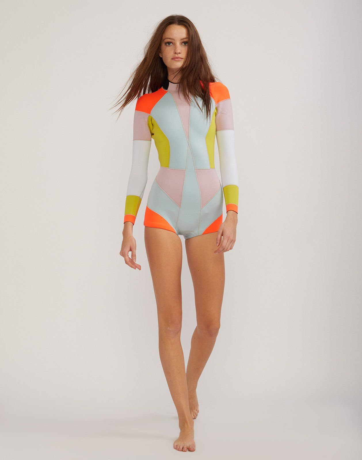 e4d24ca7e2b7 Peach Combo Colorblock Wetsuit in 2019 | Products | Wetsuit, Cynthia ...
