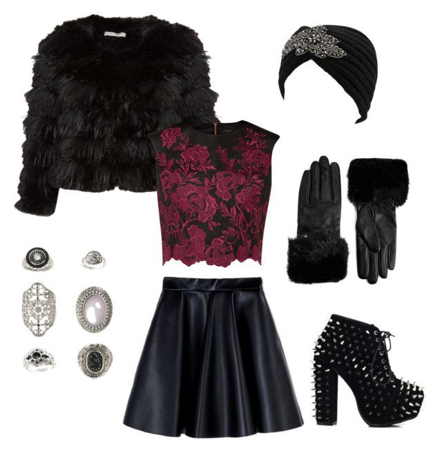 """""""AHS Coven #4 Madison"""" by ventablack on Polyvore featuring Mode, Alice + Olivia, MSGM, Ted Baker und Topshop"""
