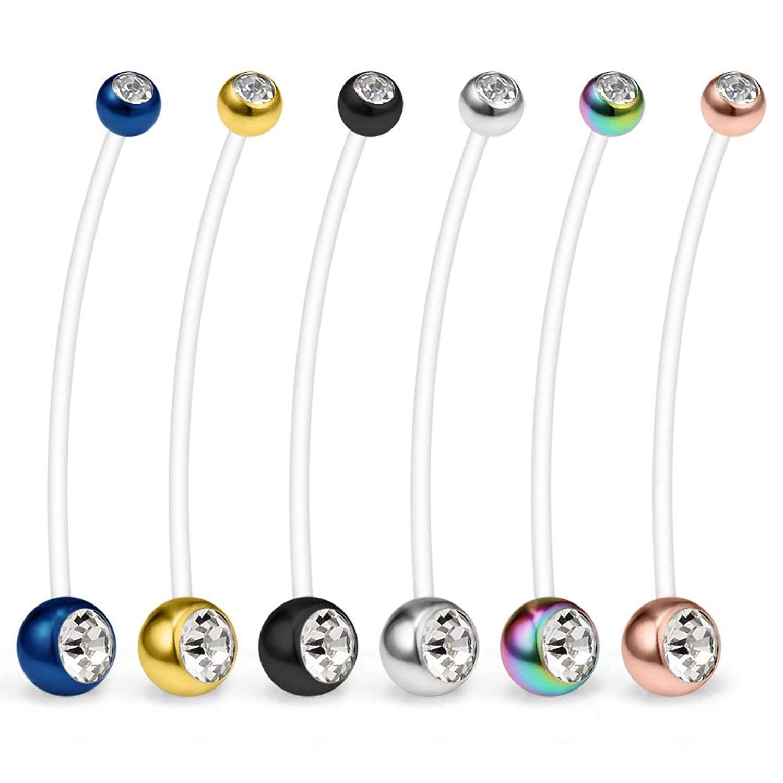 Body piercing retainer  SCERRING PCS G Clear Acrylic Bioflex Pregnancy Sport Belly Button