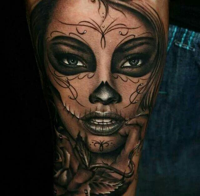 Tatouage Visage Femme Mexicain Kolorisse Developpement
