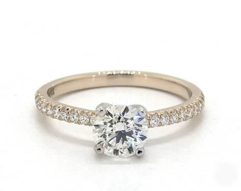 .8ct Round Pave Engagement Ring in Yellow Gold - See it in 360 HD SuperZoom!