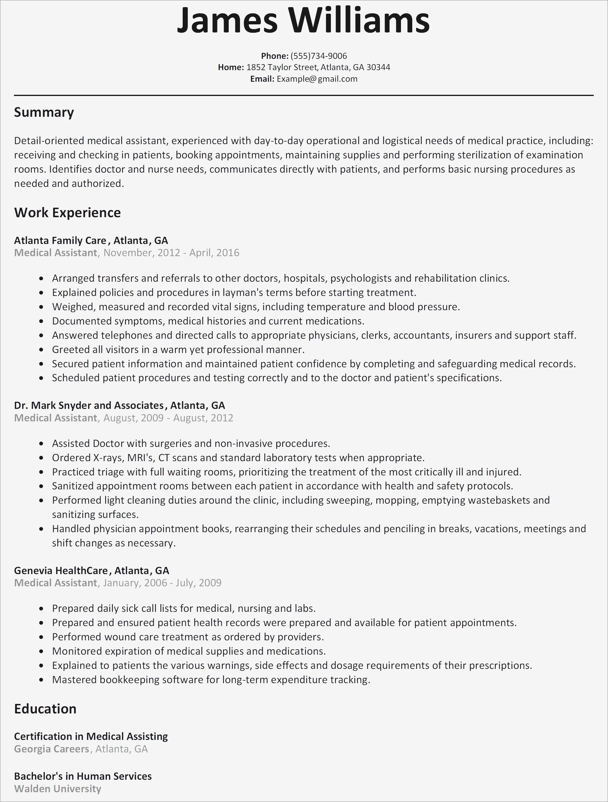 Physician Assistant Resume Examples 9 Certified Medical