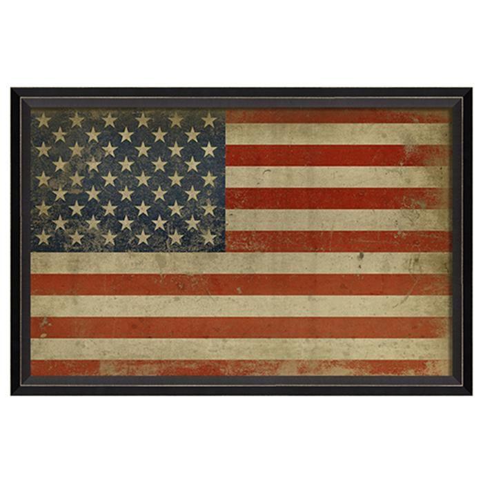 "American Flag Framed Print 17"" x 25"" #americanflagart"