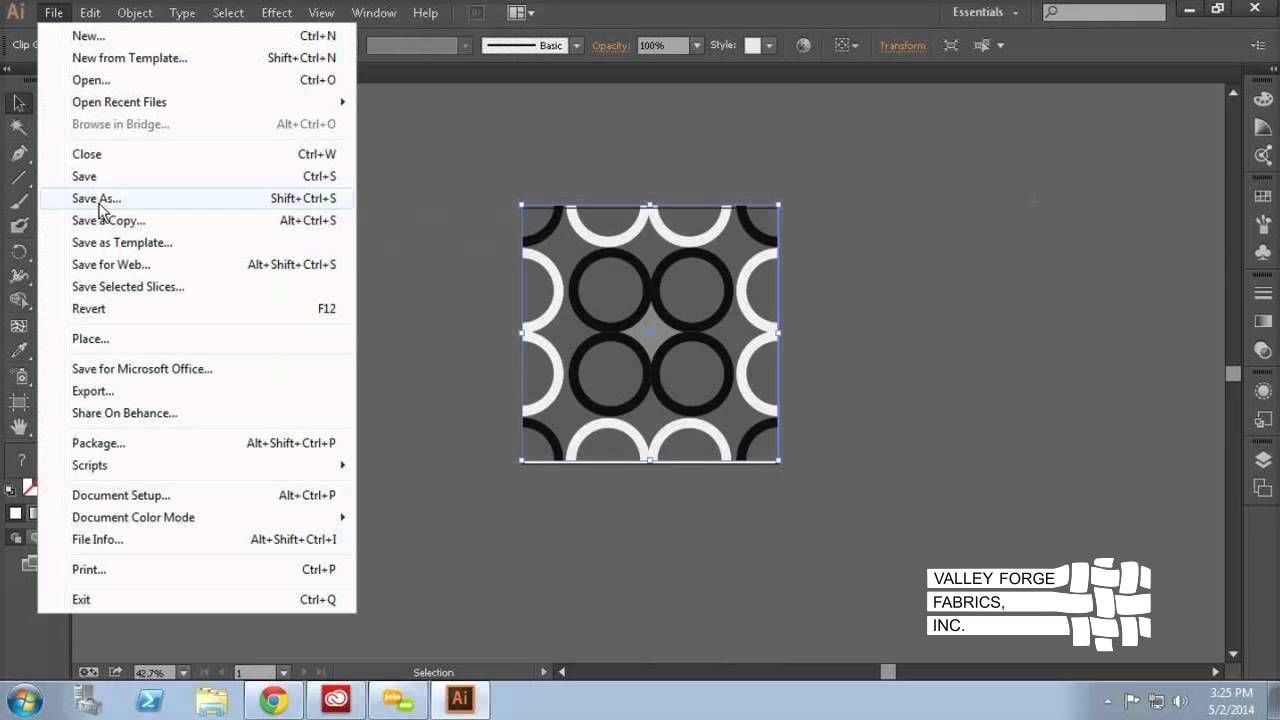 How to create a seamless square repeat and save in proper